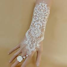 pearl lace bridal wedding gloves pearl lace white gloves retro