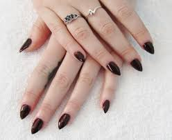 acrylic pointed nails how you can do it at home pictures