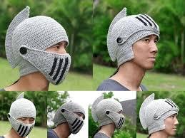 crochet pattern knight helmet free knight helmet hat with visor share a pattern