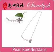 pearl bow necklace images Modern pearl bow necklace latest design pearl jewelry pearl chain jpg