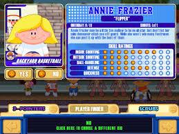 Backyard Football 2002 Annie Frazier Backyard Sports Video Game Character Profile