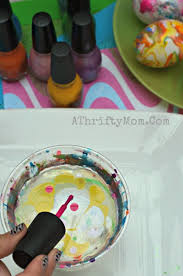 nail polish swirl easter eggs how to dye easter eggs with nail