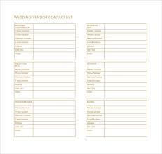Free Wedding Samples By Mail Vendor List Template Here Is Preview Of This First Sample
