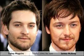 Meme Tobey Maguire - tobey maguire totally looks like james mcavoy cheezburger