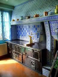 blue kitchen tiles claude monet s blue and white decorative kitchen back splash tiles