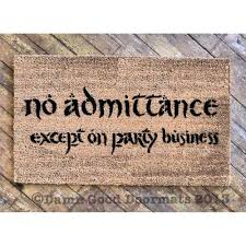 lotr bilbo no admittance except on party by damngooddoormats