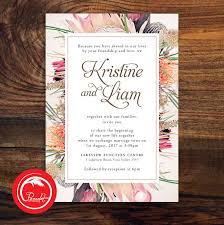 wedding invitations newcastle australian floral wedding invitation set pocadot invitations