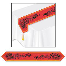 new year supplies 12ct beistle new year supplies printed asian table runner