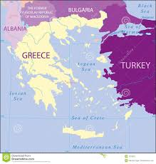 Physical Map Of Greece by Greece Turkey Albania Bulgaria Macedonia Map Royalty Free Stock
