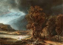 rembrandt landscape with the good samaritan karnet kraków