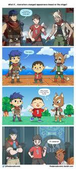 Smash Bros Memes - cambios de apariencia según el co donde estén smash bros