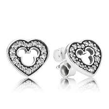 mickey mouse earrings pandora disney mickey silhouette earrings 290579cz ben bridge