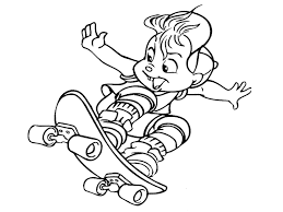 skateboarding coloring pages kids coloring