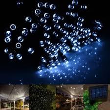 solar deck string lights 100 led solar string lights in white includes delivery