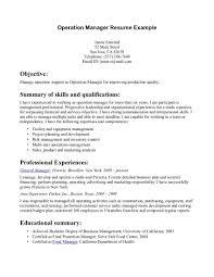 Regional Manager Resume Sample Resume Of Operations Manager Business Operations Manager Resume