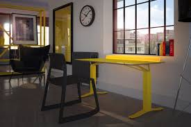 high tech standing desk comes with a light bar to help make you