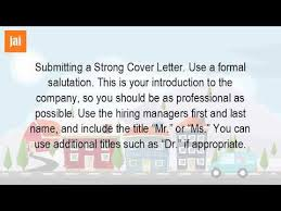 how do you address a cover letter with a name youtube