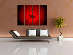 Wine Glass Wall Decor 1 Piece Brown Huge Canvas Art Wine Wall Decor