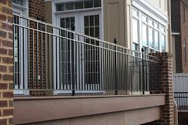 outdoor and patio loveable iron balcony railing combined with