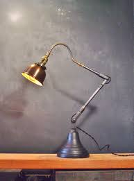 vintage style desk lamp with industrial w copper shade on storenvy