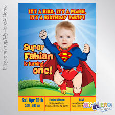 baby superman invitation with your little boy as super baby super