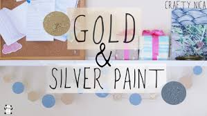 how to make gold and silver paint with primary colors handmade