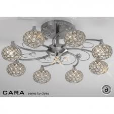 Nickel Ceiling Light Il30938 Cara 8 Light And Satin Nickel Ceiling Light