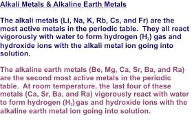 Alkaline Earth Metals On The Periodic Table Alkali Metals U0026 Alkaline Earth Metals U2013 Organic Chemistry