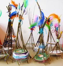 weaving craft tipi fun crafts kids