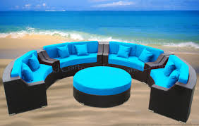 Wicker Sectional Patio Furniture - cassandra round outdoor wicker dining sofa set patio furniture