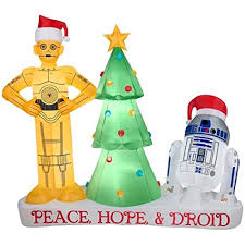 Grinch Blow Up Yard Decoration by Amazon Com 6 Foot Star Wars Droids R2 D2 And C3po Holiday Yard