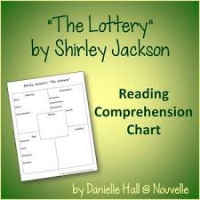 themes in the story the lottery comprehension chart the lottery by shirley jackson chart