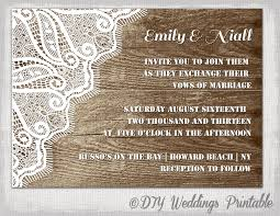 wedding programs exle rustic wedding invitation template wood lace