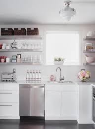 Floating Shelves Kitchen by White Floating Shelves Design Ideas