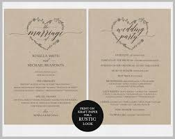 diy wedding program template 14 wedding program templates editable psd ai format