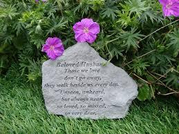 beloved husband memorial garden plaque grave marker ornament