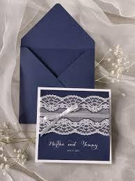 wedding invitations handmade ca0728 handmade navy blue lace wedding invitation cards in cards