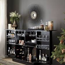 Gray Bar Cabinet Mini Bar Furniture For Stylish Entertainment Areas