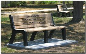 memorial bench memorial park benches park in troy illinois il provides