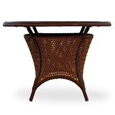 round glass top tables 42 inches lloyd flanders grand traverse woven vinyl 42 round glass top dining