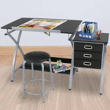 Drawing Desk Station Mdf Desktop Adjustable Drafting Table W