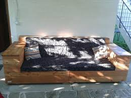 diy pallet outdoor sofa with cushion 99 pallets