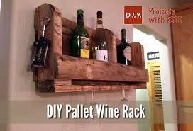 diy wine rack from a wood pallet diy for life