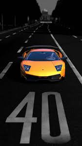 yellow lamborghini with background iphone wallpaper