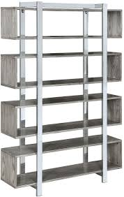 Donny Osmond Home Decor by Shell And Chrome Bookcase By Donny Osmond From Coaster Coleman