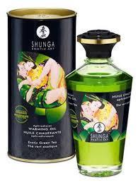 si e chauffant massant huile de bio thé vert chauffante comestible 100ml et si
