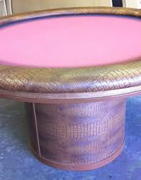 Poker Table Pedestal Round Custom Poker Table With Custom Felt