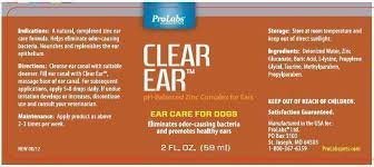 clear l base to fill clear ear prolabs ltd veterinary package insert