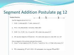 Angle Addition Postulate Worksheet Answers Unit 1 Foundations Of Geometry