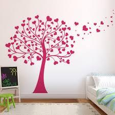 stickers arbre chambre fille sticker arbre à coeurs large gamme de stickers enfants avec stickerz